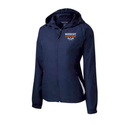 Women's Lacrosse Embroidered Lightweight Hooded Raglan Jacket