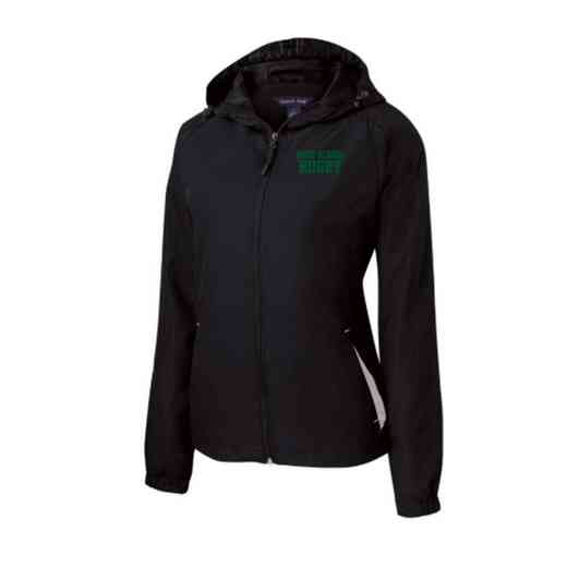 Women's Rugby Embroidered Lightweight Hooded Raglan Jacket