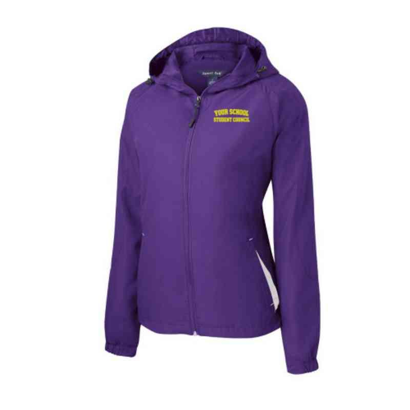 Women's Student Council Embroidered Lightweight Hooded Raglan Jacket