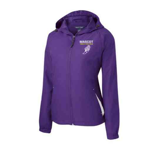 Women's Track & Field Embroidered Lightweight Hooded Raglan Jacket