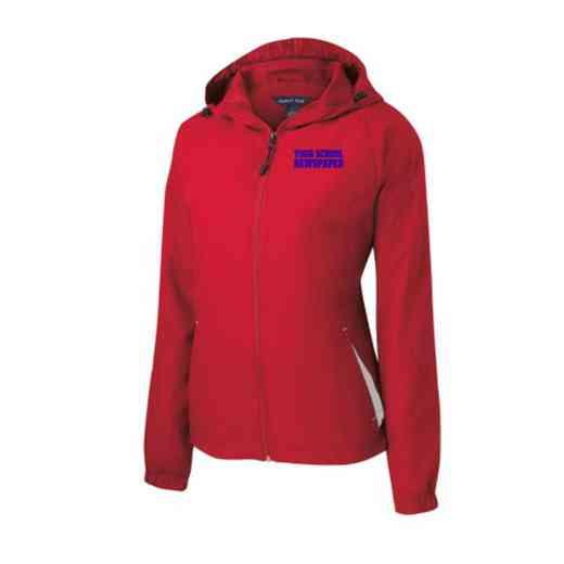 Women's Newspaper Embroidered Lightweight Hooded Raglan Jacket
