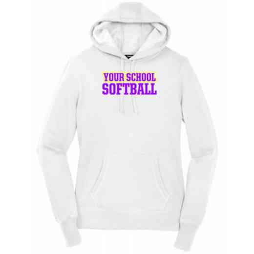 Women's Softball Heavy Cotton Hoodie