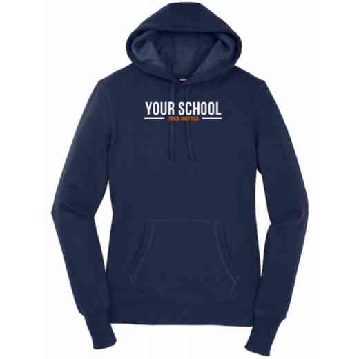 Women's Track and Field Heavy Cotton Hoodie