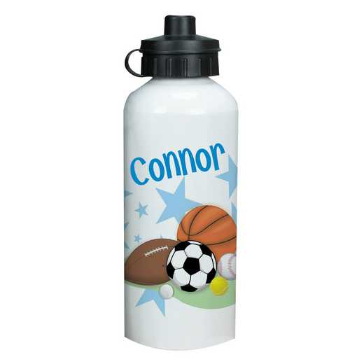 U362420: Water Bottle Sports Fan /name