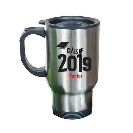27790MST: Stainless Steel Travel Mug grad cap