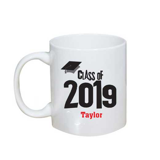 27790M: Coffee Mug White 11oz grad cap
