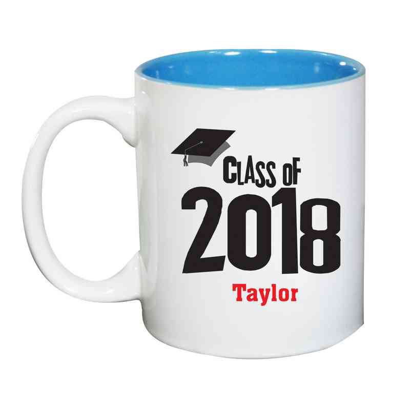 27790MLB: Two Toned LIGHT BLUE Ceramic Mug gradcap