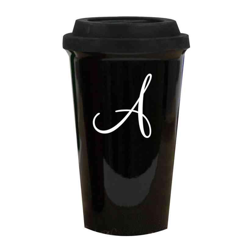 L990613BK: Latte Mug Black 1 intial
