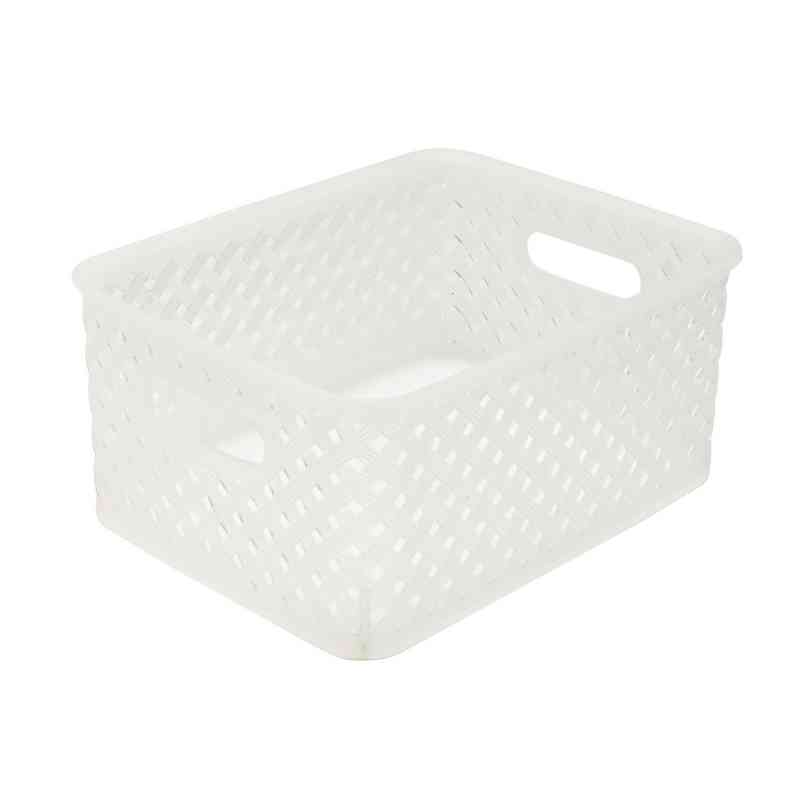 25167-CLEAR : RESIN WCKR STRGE TOTE - CLEAR SML 10x8x4