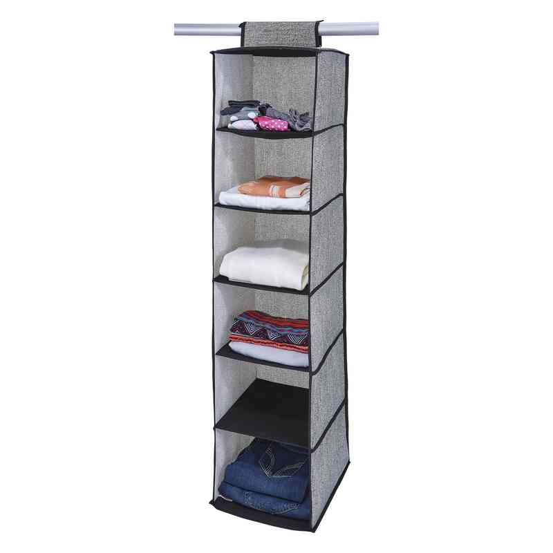 6 Shelf Closet Organizer In Black