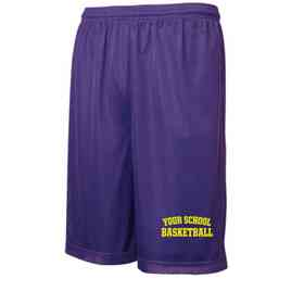 """Basketball Sport-Tek Embroidered Youth 7"""" Classic Mesh Short"""