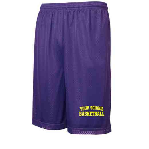 "Basketball Sport-Tek Embroidered Youth 7"" Classic Mesh Short"