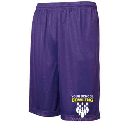"Bowling Sport-Tek Embroidered Youth 7"" Classic Mesh Short"