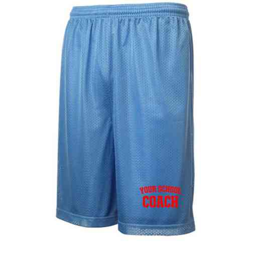 "Coach Sport-Tek Embroidered Youth 7"" Classic Mesh Short"