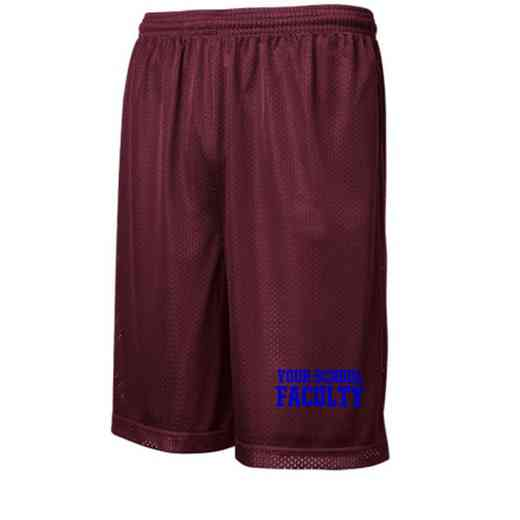 "Faculty Sport-Tek Embroidered Youth 7"" Classic Mesh Short"