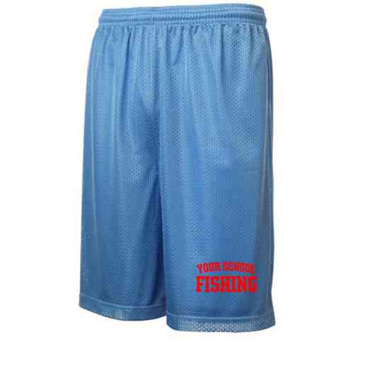 "Fishing Sport-Tek Embroidered Youth 7"" Classic Mesh Short"