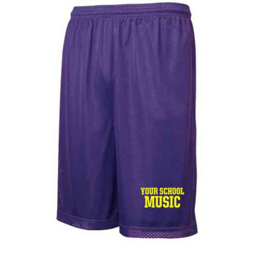 "Music Sport-Tek Embroidered Youth 7"" Classic Mesh Short"
