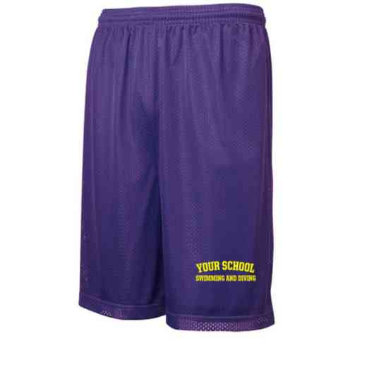 "Swimming and Diving Sport-Tek Embroidered Youth 7"" Classic Mesh Short"