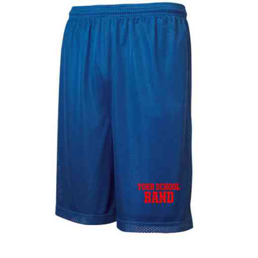 Band Embroidered Sport-Tek 9 inch Classic Mesh Short