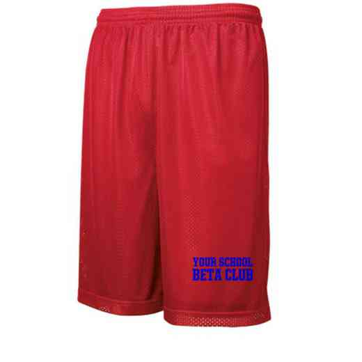 Beta Club Embroidered Sport-Tek 9 inch Classic Mesh Short
