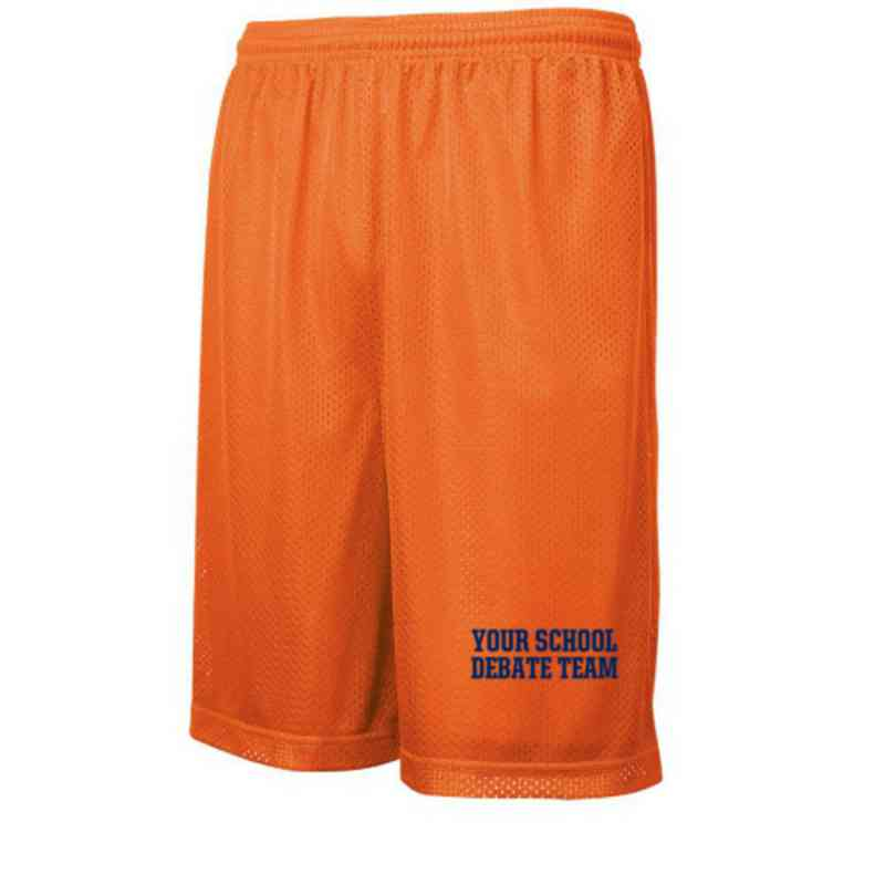 Debate Team Embroidered Sport-Tek 9 inch Classic Mesh Short