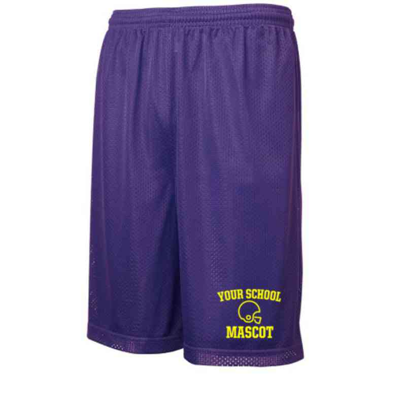 Football Embroidered Sport-Tek 9 inch Classic Mesh Short