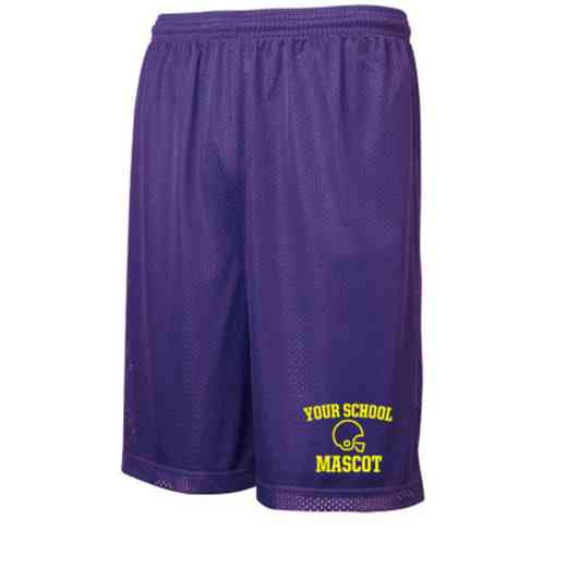Football Embroidered Sport-Tek 9 inch Classic Mesh Short