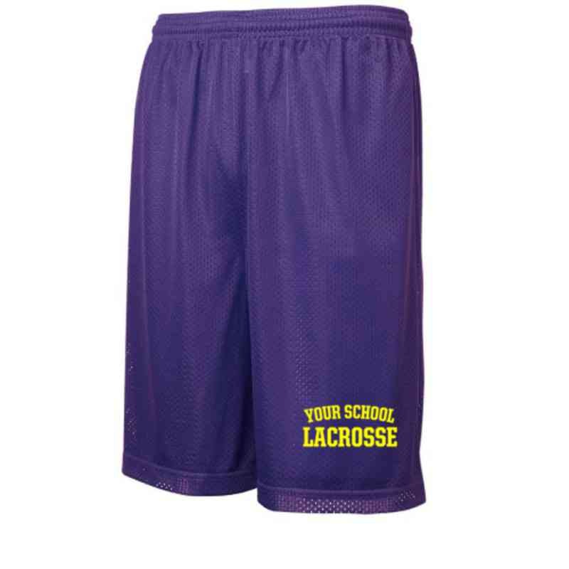 Lacrosse Embroidered Sport-Tek 9 inch Classic Mesh Short