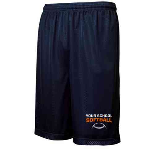 Softball Embroidered Sport-Tek 9 inch Classic Mesh Short