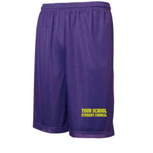 Student Council Embroidered Sport-Tek 9 inch Classic Mesh Short