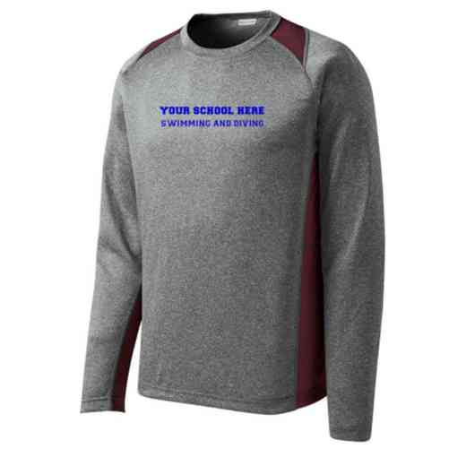 Swimming and Diving Sport-Tek Vintage Heather Long Sleeve Competitor T-shirt