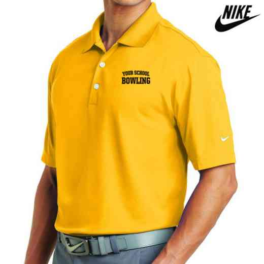 Bowling Embroidered Nike Dri Fit Polo