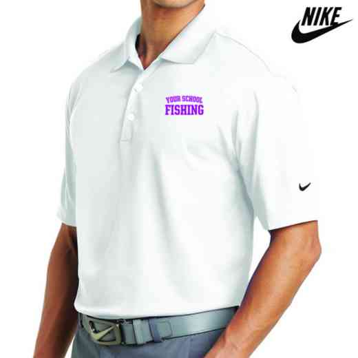 Fishing Embroidered Nike Dri Fit Polo
