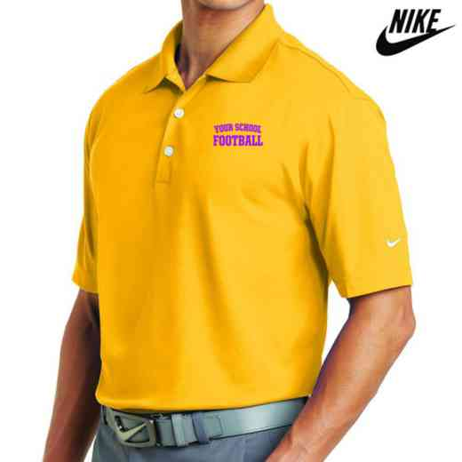 Football Embroidered Nike Dri Fit Polo