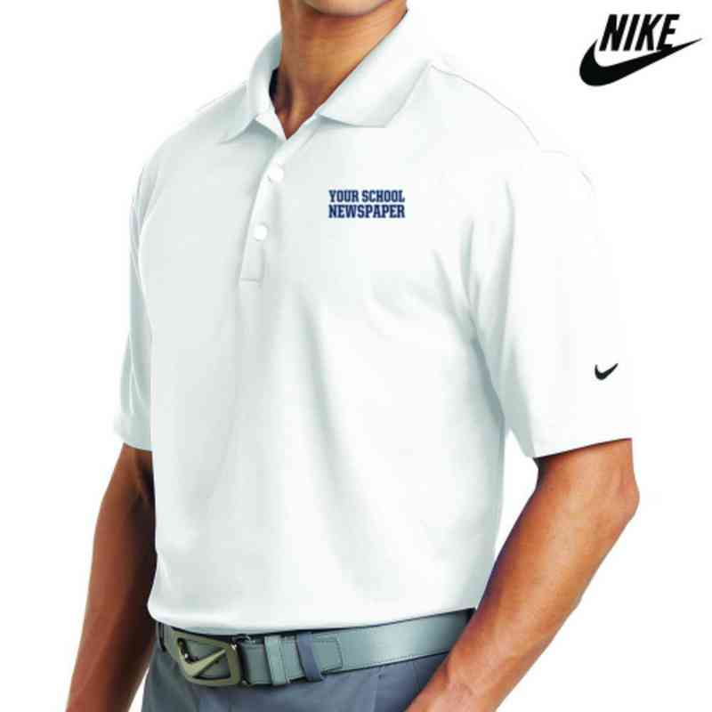 Newspaper Embroidered Nike Dri Fit Polo