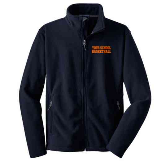 Basketball Embroidered Youth Zip Fleece Jacket