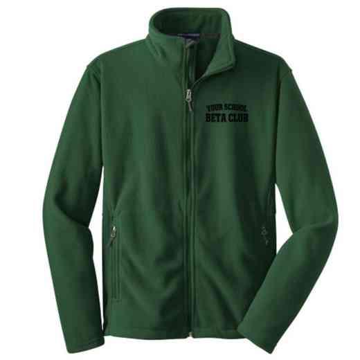 Beta Club Embroidered Youth Zip Fleece Jacket