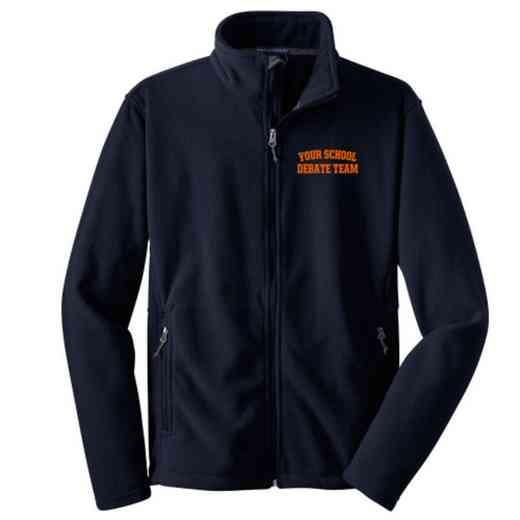Debate Team Embroidered Youth Zip Fleece Jacket