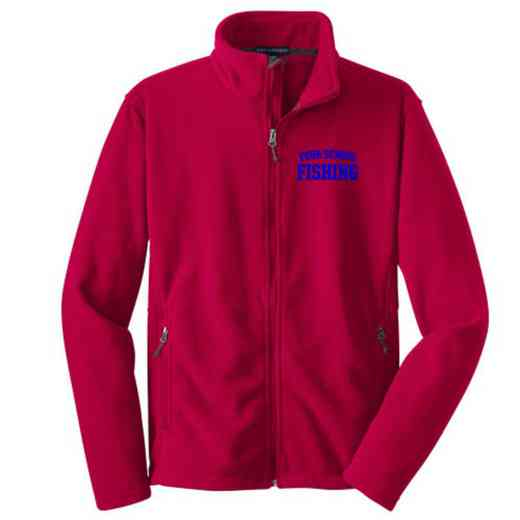 Fishing Embroidered Youth Zip Fleece Jacket