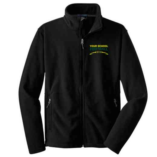 Football Embroidered Youth Zip Fleece Jacket