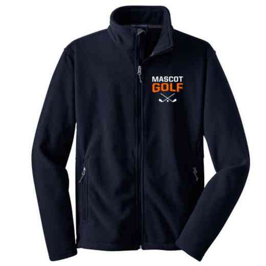 Golf Embroidered Youth Zip Fleece Jacket