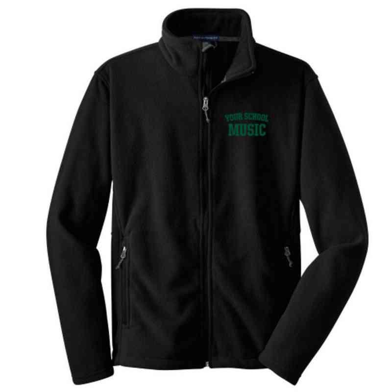 Music Embroidered Youth Zip Fleece Jacket