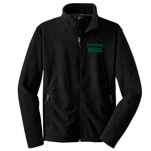 Music Embroidered Youth Zip Fleece Jacket