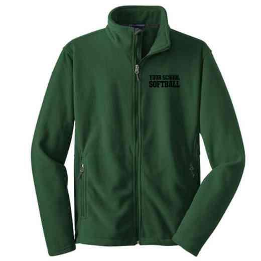 Softball Embroidered Youth Zip Fleece Jacket