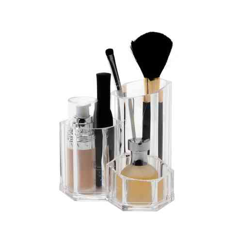 LA-96715 : 3 COMPARTMENT PENCIL BRUSH HOLDER