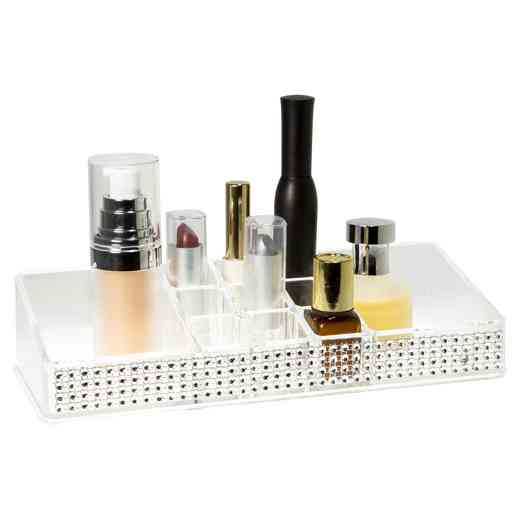 LA-96722 : COSMETIC HOLDER 11 SECTION-PAVE DIAMOND