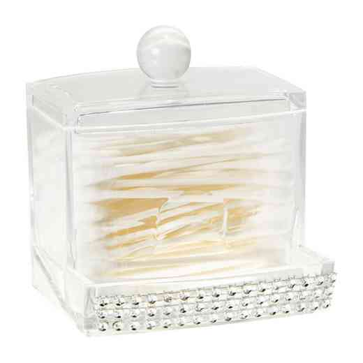 LA-96724 : QTIP BOX W/IMITATION DIAMOND-PAVE DIAMND