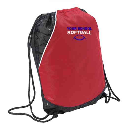 Softball Embroidered Cinch Pack