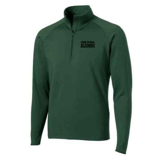 Alumni Sport-Tek Embroidered Mens Half Zip Stretch Pullover