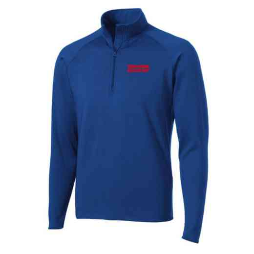 Athletic Department Sport-Tek Embroidered Mens Half Zip Stretch Pullover
